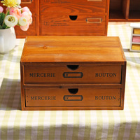 Multifunctional Retro Wood Storage Drawer Cabinet Vintage Shelf Jewellery Cabinet Storage Rack Shelving Cosmetic Storage Drawer