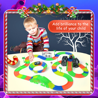 Railway Magical Slot Stunt Race Truck Flexible Toys For Boys Children S Railroad Tracks Light With