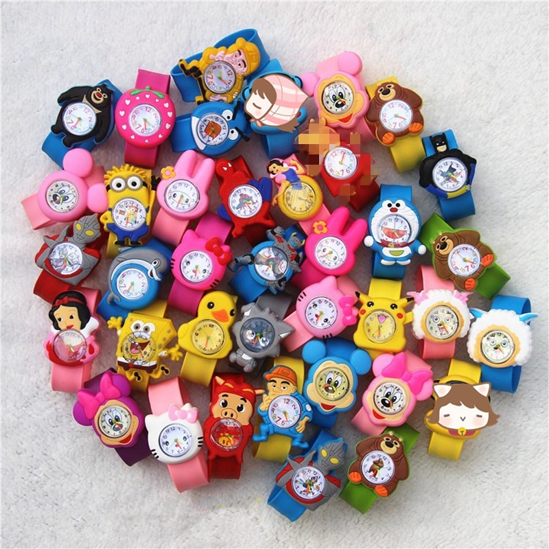 Children's Watches 3d Cartoon Toys Lovely Gift Anime Patted Wristwatch Anime Patted Watch Silicone Strap Child Quartz Watch(China)