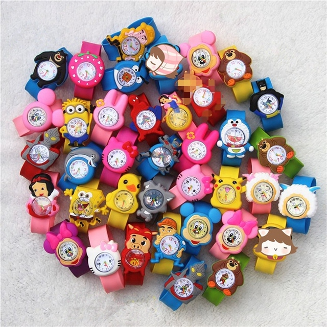 Children's Watches 3d Cartoon Toys Lovely Gift Anime Patted Wristwatch Anime Pat