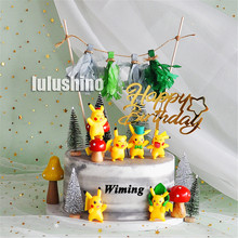 pokemon birthday cake topper children party decorations kids gifts pikachu toys cupcake toppers