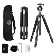 QZSD Q999 tripod portable aluminum alloy Aluminum Alloy tripod for SLR Camera Tripod Ball Head monopod Ballhead chargeable professional q 668 pro slr camera aluminum alloy traveling tripod monopod with qzsd 02 changeable portable ball head 20%