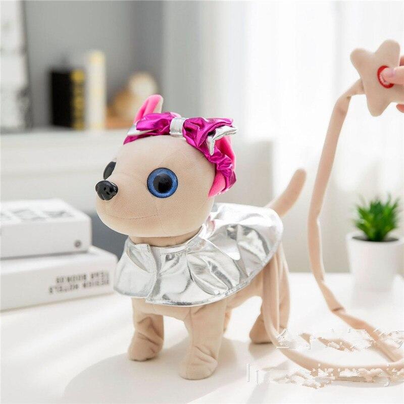 Électronique Pet Chi Chi Robot Chien en peluche Animaux En Peluche Marche Chant Interactif Jouet pour chien Avec Sac Pour Enfants Enfants D'anniversaire - 2