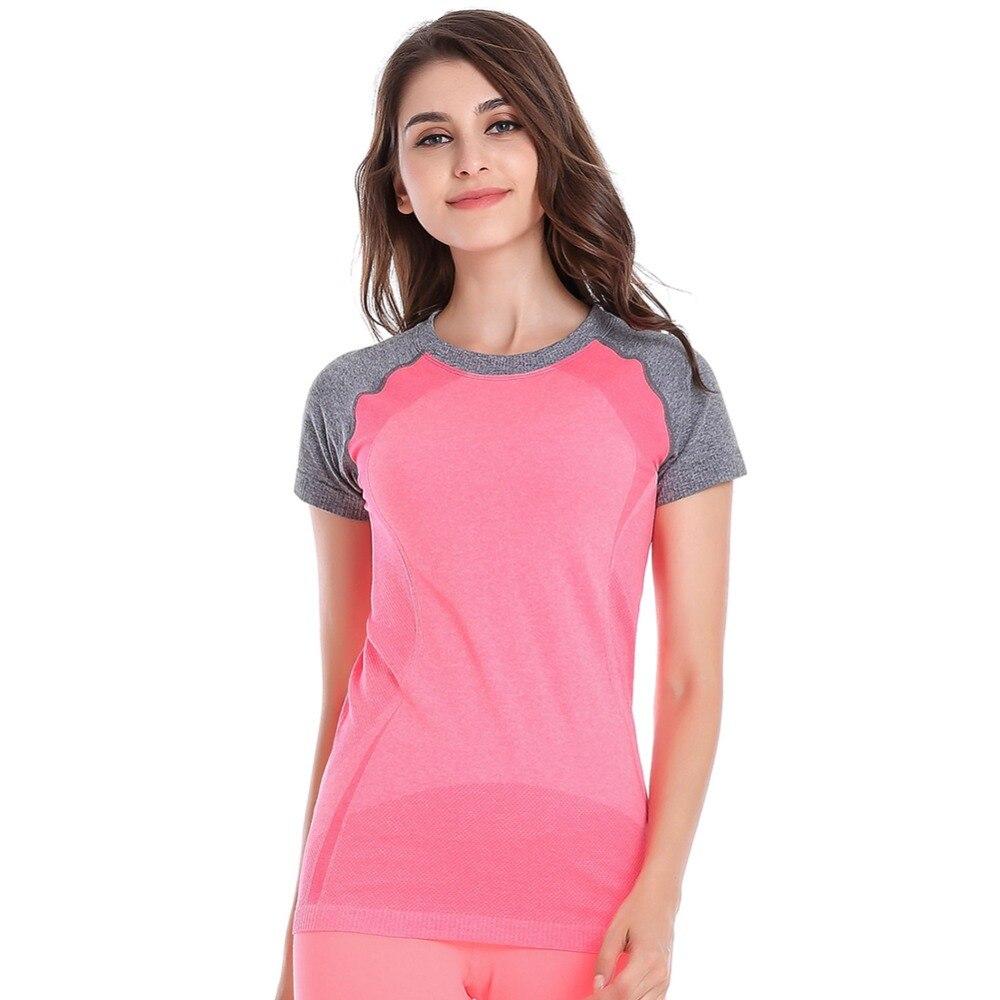 New Trendy Women's Quick Dry Short Sleeve Fitness Gym