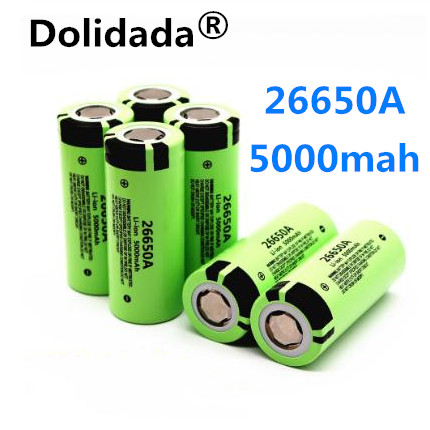 Dolidada 100% Original New Battery For Panasonic 26650A 3.7V 5000mAh High Capacity 26650 Li-ion Rechargeable Batterie(China)
