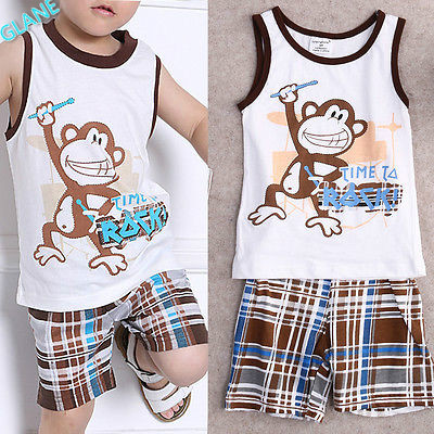 2016 New Summer Baby Boy Toddler Casual T-shirt Tops+Stripe Pants 2pcs Outfits Set 1-7Y Children's Clothing Boy Sports Suit baby set girls stripe i woke up like this toddler shirt pants 2pcs outfits set