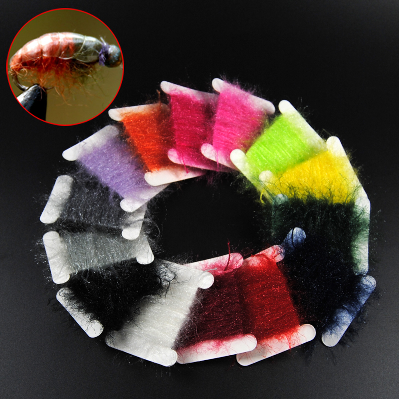 Bimoo 5 Meters / Card Sparkle Fly Tying Dubbing Line Yarn Scud Sand Worm Flies Fly Tying Material For Nymph Fly Body Thread bimoo 6 bags ultra fine ice dub for fly tying synthetic sparkle dubbing fiber for nymph scud streamers fly tying material