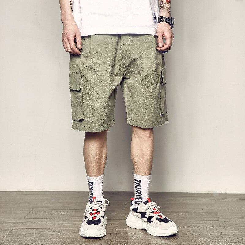 wholesale2019 summer Cargo loose elastic waist multi pocket teenagers cotton outdoor hiking camping trekking tactical shorts men