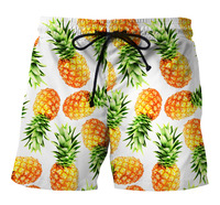 ESHINES 2019 New Fashion Beach Shorts Men Polyester Quick Dry Print Pattern Big Size Sport Casual Beach Short For Male Cheap