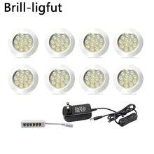 Dimmable 12V Under Cabinet Light LED Puck Lights Wireless Downlight Spotlights for Counter,Shelf Furniture Kitchen