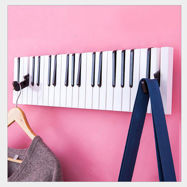 High Quality Small Home Piano Hook Color Wall Decoration Rack Coat Rack Wall Stand Color Piano Hook 60cm