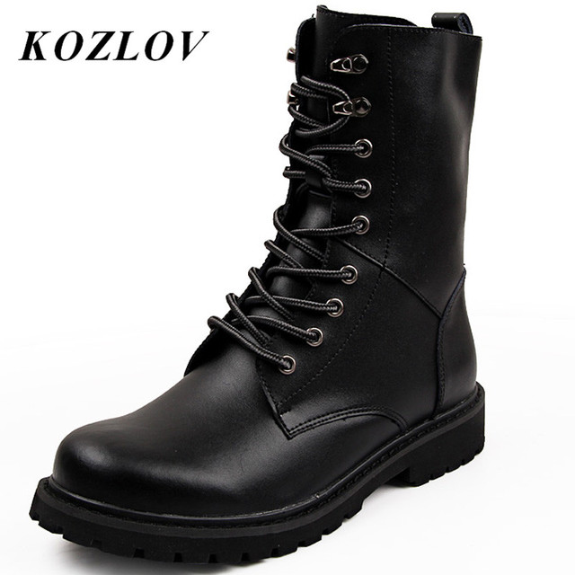 KOZLOV Men Desert Tactical Military Boots Mens Work Safty Shoes SWAT Army Boot Militares Tacticos Zapatos Ankle Combat Boots Bot