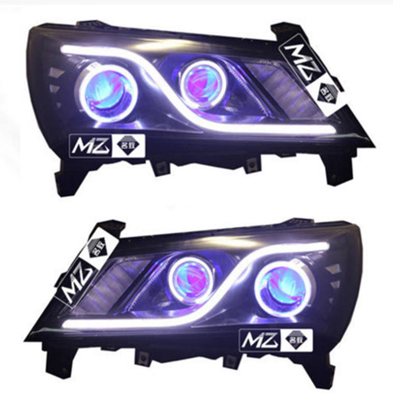 Geely new Emgrand 7,EC7,EC715,EC718,Emgrand7,E7,Car modified headlight with angel eyes, demon eyes, lenses, xenon lights цена и фото