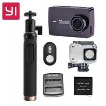 """[Edição internacional] xiaomi yi 4 k wi-fi câmera de esportes câmera de ação 2 ambarella a9se xiaoyi ii 2.19 """"155 Graus CMOS EIS LDC"""