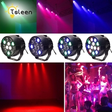 TSLEEN Laser Projector Lamp LED Stage Light RGB PAR Lighting Ball Effect DMX512 Master-Slave Led Flat For DJ Disco Party KTV