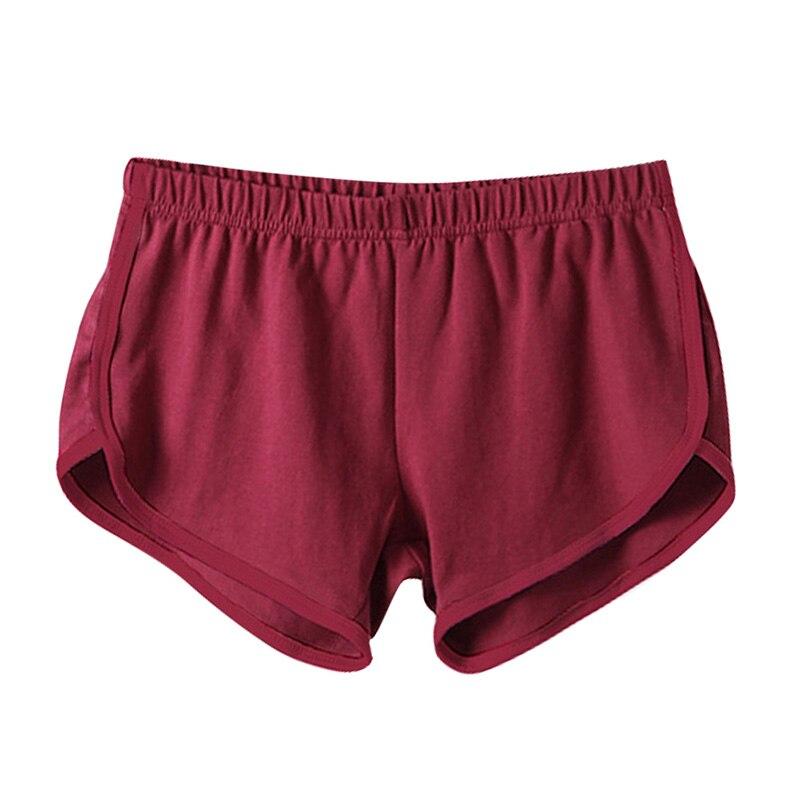 Quick Drying Drawstring Women Shorts Casual Anti Emptied Cotton Contrast Elastic Waist Correndo Short Esportes Home  Shorts
