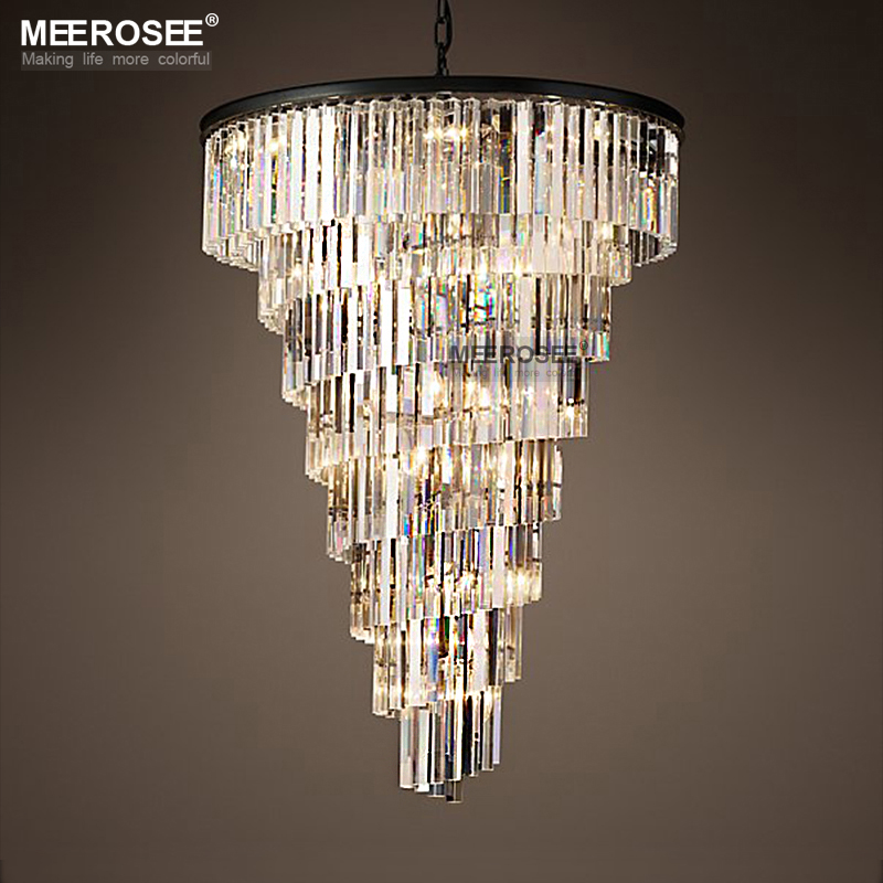 Cristallo di lusso Lampadario Lustri Apparecchi di Illuminazione A Sospensione per Ristorante Hotel Lampada di Cristallo di Goccia Lamparas