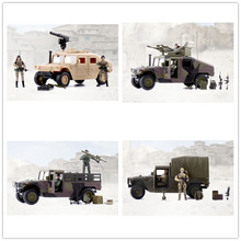 1/18 World Peacekeepers HUMVEE and 2 soldier action figures Military model toy anime figure kids toys for children цена 2017