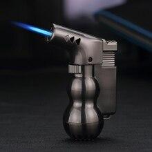 Creative Cigar lighter Firepower fierce Windproof Metal Gas Portable kitchen Outdoor Spray gun High temperature