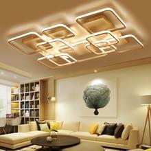 Rectangle New Aluminum living room bedroom modern led ceiling lights luminarias para sala White Color led ceiling lamp