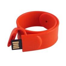 Manufactory 8GB 16GB 32GB 64GB PVC Wrist Band Bracelet Silicon Slap Hand Band Usb Flash Drive
