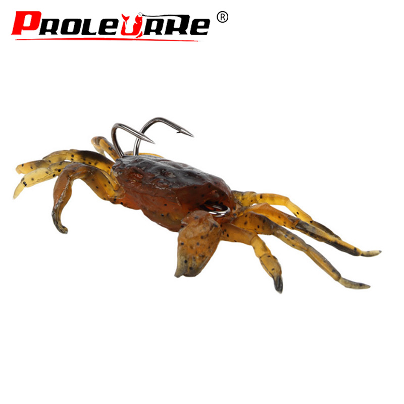 Fishing Tackle Gear Lure Soft 3D Crab Simulation Saltwater Fish Hook Bait 10cm Fishing