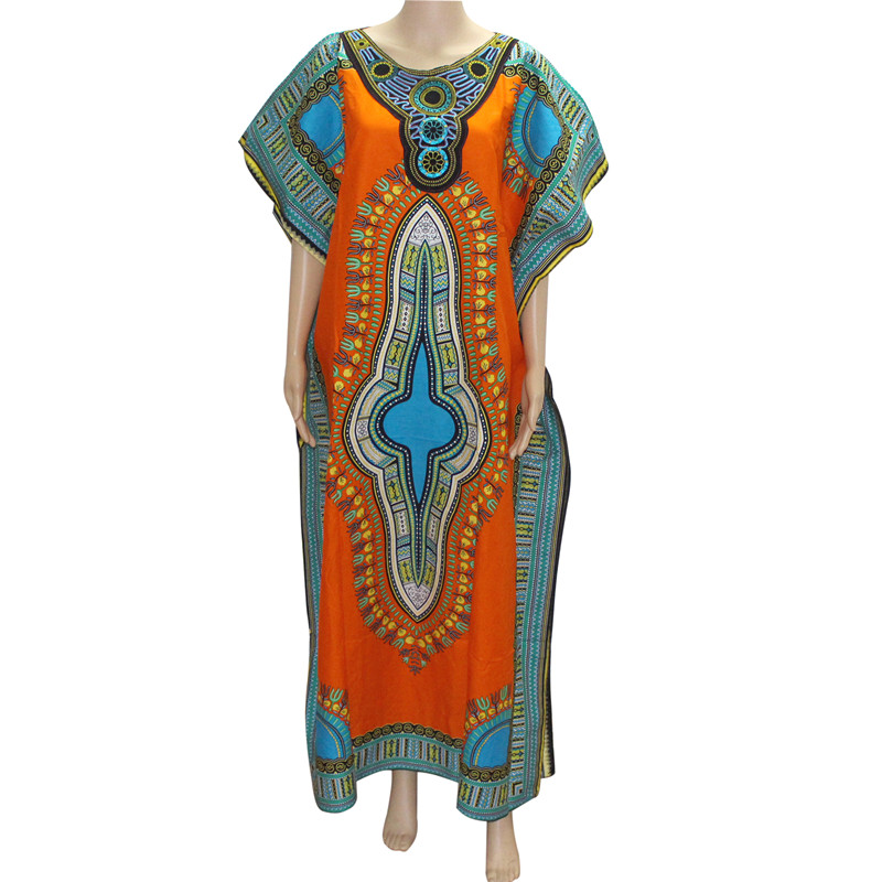 Mr Hunkle New Fashion Women 39 s Dashiki Dress Cotton African Print Maxi Vestidos Robe Africaine Femme Dashiki Dress Women in Africa Clothing from Novelty amp Special Use