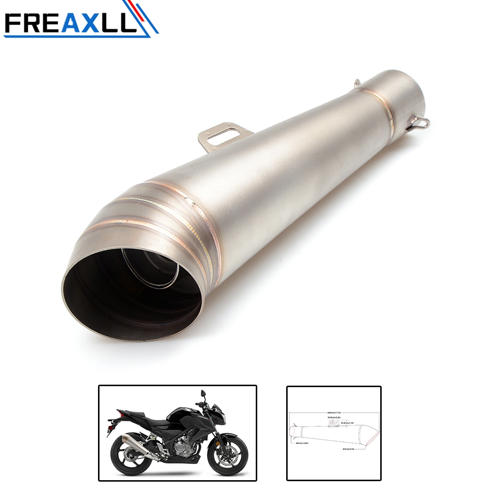 36 51MM Modified motorcycle exhaust pipe stainless steel fried tube exhaust pipe FOR HONDA R1 R6 ZX 6R ZX 10R GSXR 750 1000 KTM