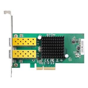 Image 3 - ديوو 2 ميناء SFP بطاقة الشبكة 1G الألياف البصرية محول الشبكة PCIe 4X خادم بطاقة الشبكة المحلية مع إنتل 82576
