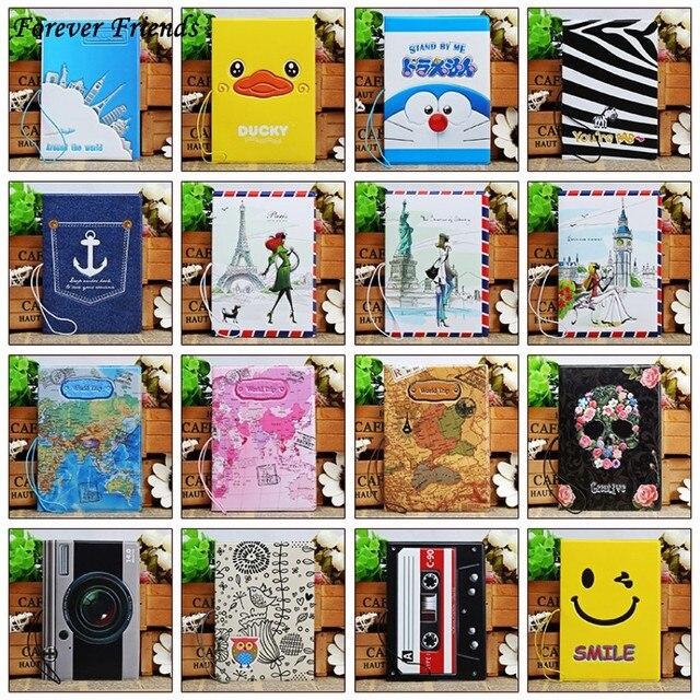 3D ПВХ и ПУ Cool мультфильм паспортов, Мужчины Путешествия Обложка для паспорта, 22 различных стилей на выбор