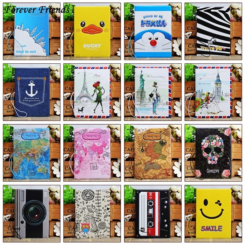 3D PVC&PU cool cartoon passport holders, men travel passport cover,  22 different styles to choose pu cartoon travel accessories passport cover with size 5 5 3 8 minions