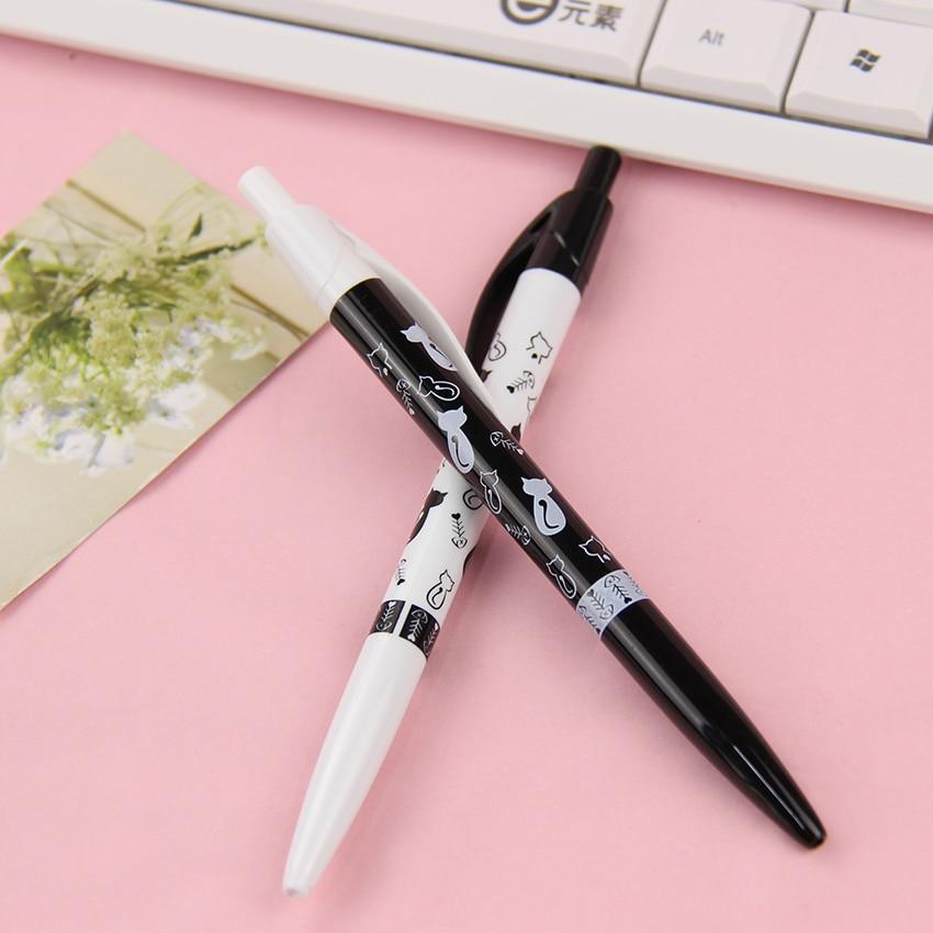 4PCS New Arrival 0.5mm Office School Pen Plastic Ballpoint Pens Writing Supplies