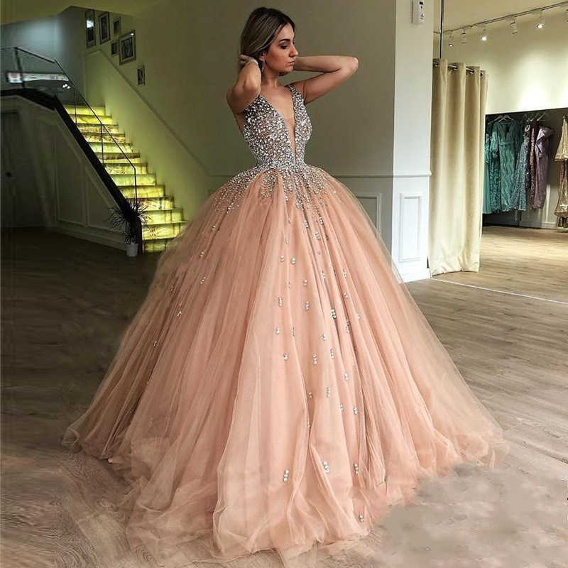 a5670f265d843 Detail Feedback Questions about Luxury Crystals Ball Gown Prom Gowns ...