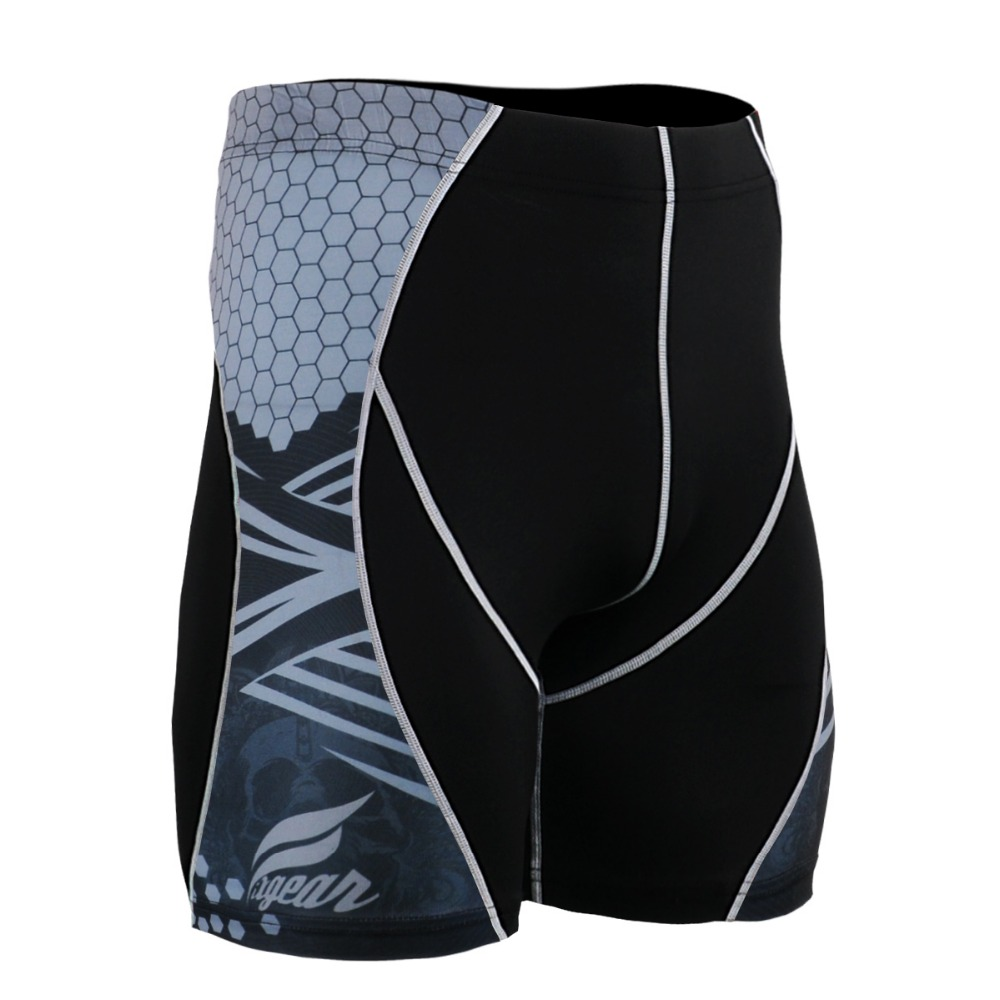 Mens Technical Compression Shorts Workout Gym MMA Fitness Crossfit Yoga Base Short Tights Exercise Pants tights for Men Running