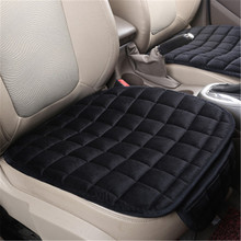 Single Velvet Front Car Seat Cover Protector Pad Breathable Winter Warm Seat Cushion for VW PEUGEOT AUDI BMW LADA dewtreetali universal automoblies seat cover four seaons car seat protector full set car accessories car styling for vw bmw audi