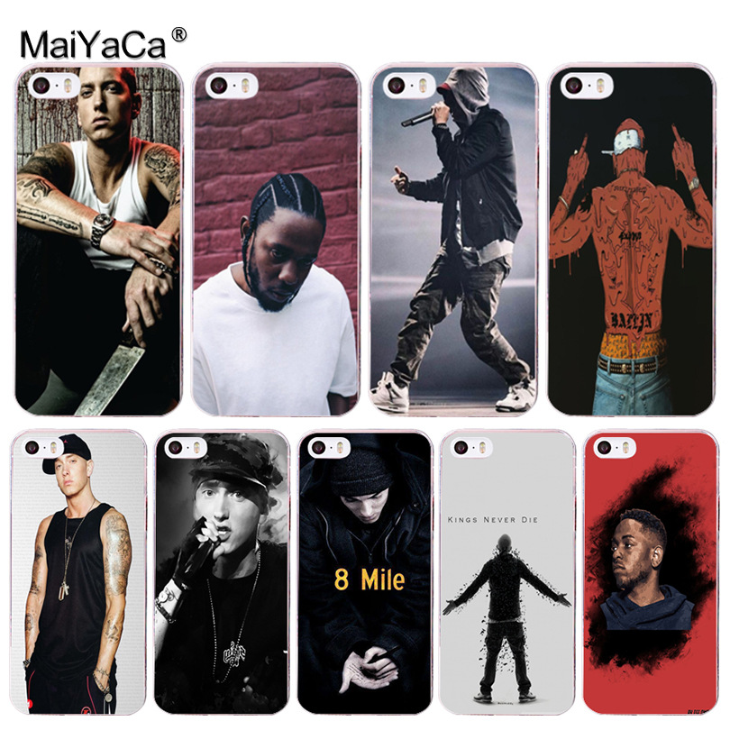 MaiYaCa Hip Hop Rapper Eminem rap Coque Shell Phone Case for Apple iPhone 8 7 6 6S Plus X 5 5S SE 5C Cover