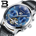 Suíça BINGER relógios homens marca de luxo Turbilhão de safira luminosa múltiplas funções de Pulso Mecânicos B8601-6