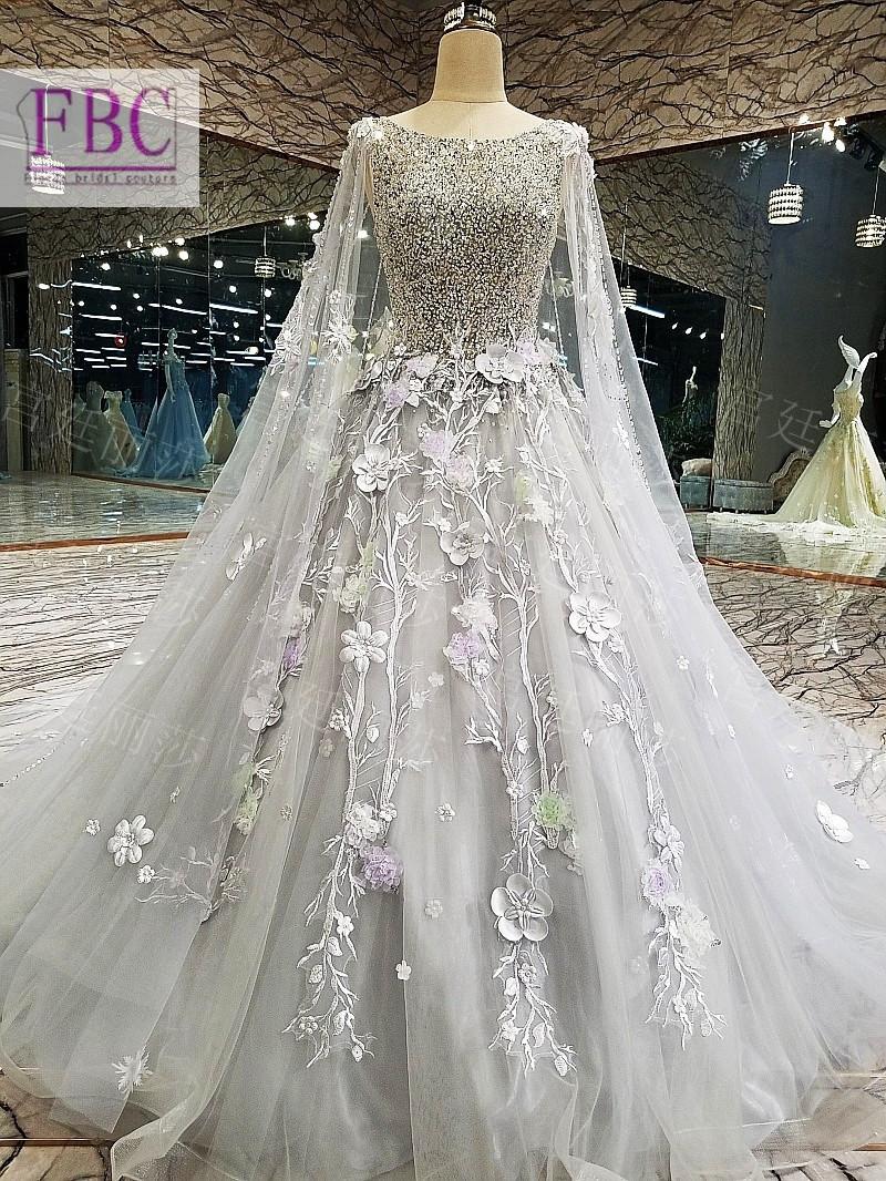 Gorgeous Bling Light Grey Wedding Dress Ball Gowntulle Beading Handmade Flowers Bridal Dress Bridal Gown Vestidos De Novia Vestidos De Novia Bridal Gownbridal Dress Aliexpress