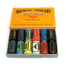 Высокое качество, 500 ярдов, 40 s/2, 12 цветов, полиэфирные швейные нитки, 457 метров, высокопрочная нить для вышивки, швейная пряжа, 12 шт
