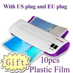 Professionele Thermische Office Hot en Koude Laminator Machine voor A4 Document Photo Blister Verpakking Plastic Film Roll Plastificad