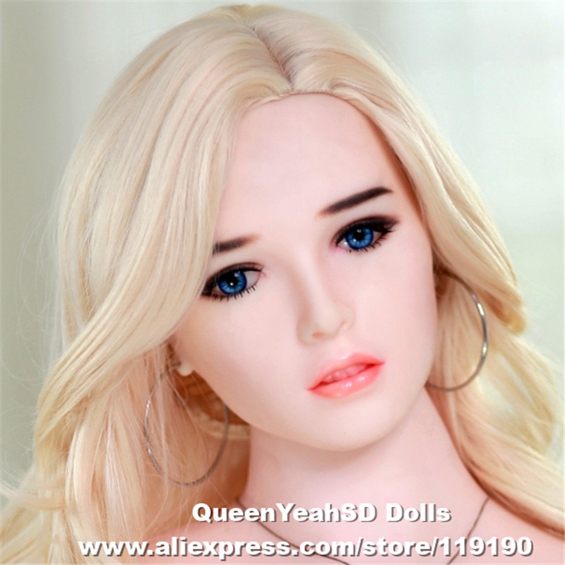 NEW Realistic Silicone Love Doll Head Oral Sex Toy Sex Tools For Men TPE Sex dolls Heads For 140cm To 170cm Dolls