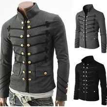 Purim Victorian Gothic Style Jacket Zipper Christian Medieval Knight Coat Solid Middle Ages Male Carnival Clothing