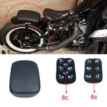 Мотоциклетная задняя Пассажирская подушка 6 присосок на заднем сиденье для Harley Dyna Sportster Softail Touring XL 883 1200