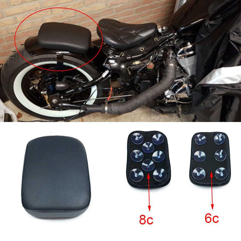 Xe máy Hành Khách Phía Sau Đệm 6 Một Chiếc Ống Hút Được Chở Trên Xe Pad Hút Seat Đối Với Harley Sportster Dyna Softail Touring XL 883 1200