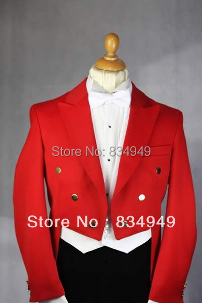 Aliexpress.com : Buy Custom Made To Measure Red Tailcoat Men Black ...