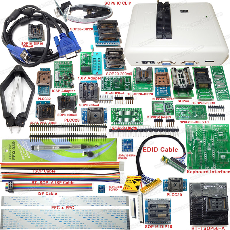 Free shipping NEW PRODUCTS RT809H EMMC-Nand FLASH Extremely fast universal Programmer RT809H better than RT809F+31 adapters free shipping 1pcs lot kmq7x000sa b315 kmq7x000sa emmc
