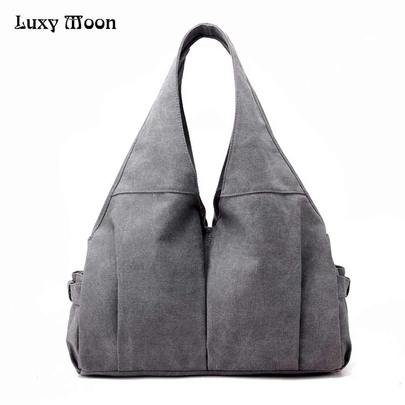 f8ca23da7056 Luxy Moon Women Handbag Casual Large Canvas Tote Bag Famous Brand Fashion Handbags  Mom Bags Washable