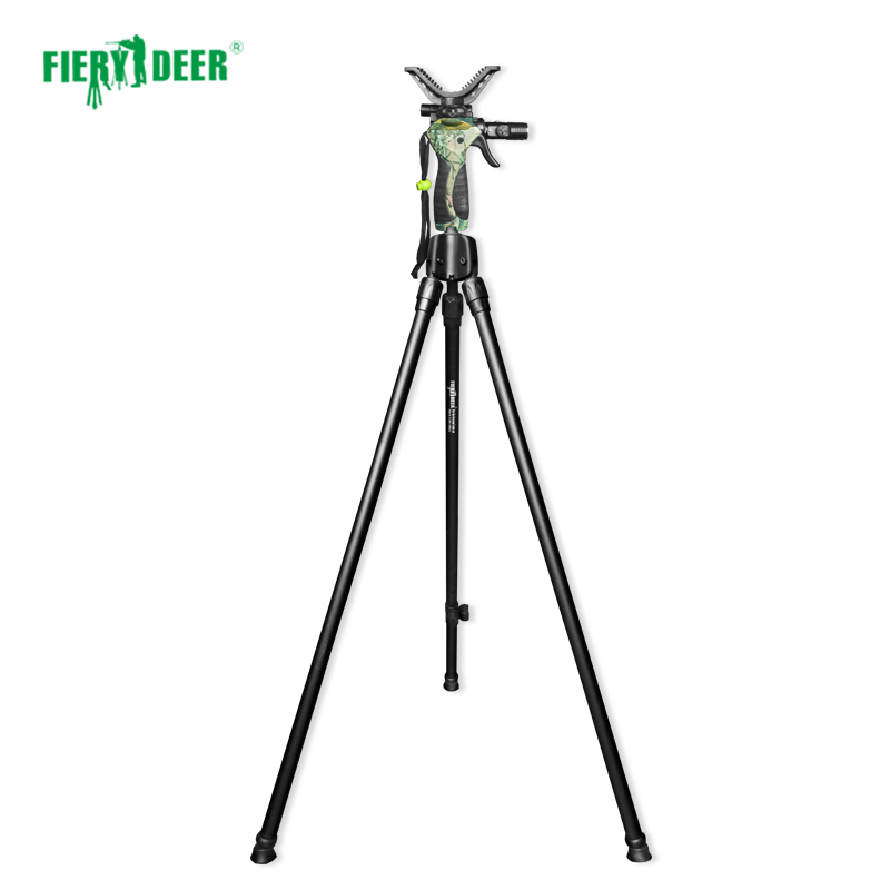 NEW FieryDeer DX 004Gen4 155cm trigger Twopod camera scopes binoculars hunting stick shooting sticks