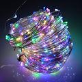 5/10/20/30 M LED Al Aire Libre de Navidad Luces de colores LED Luces de Cadena de Cobre/Alambre de Plata blanco cálido/blanco/azul/verde/rojo/RGB color