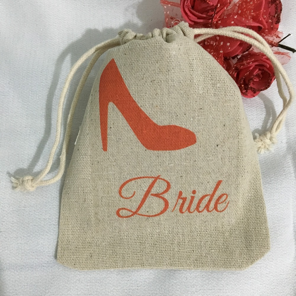 Gold High Heel Bridesmaid Name Champagne Party Wedding